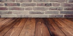 Floorboards with gaps.